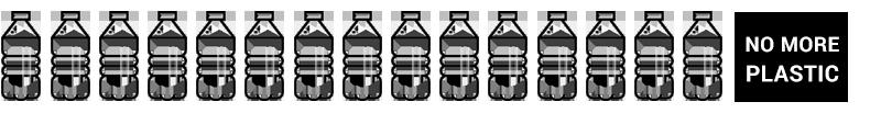 Aneinandergereihte Plastikflaschen