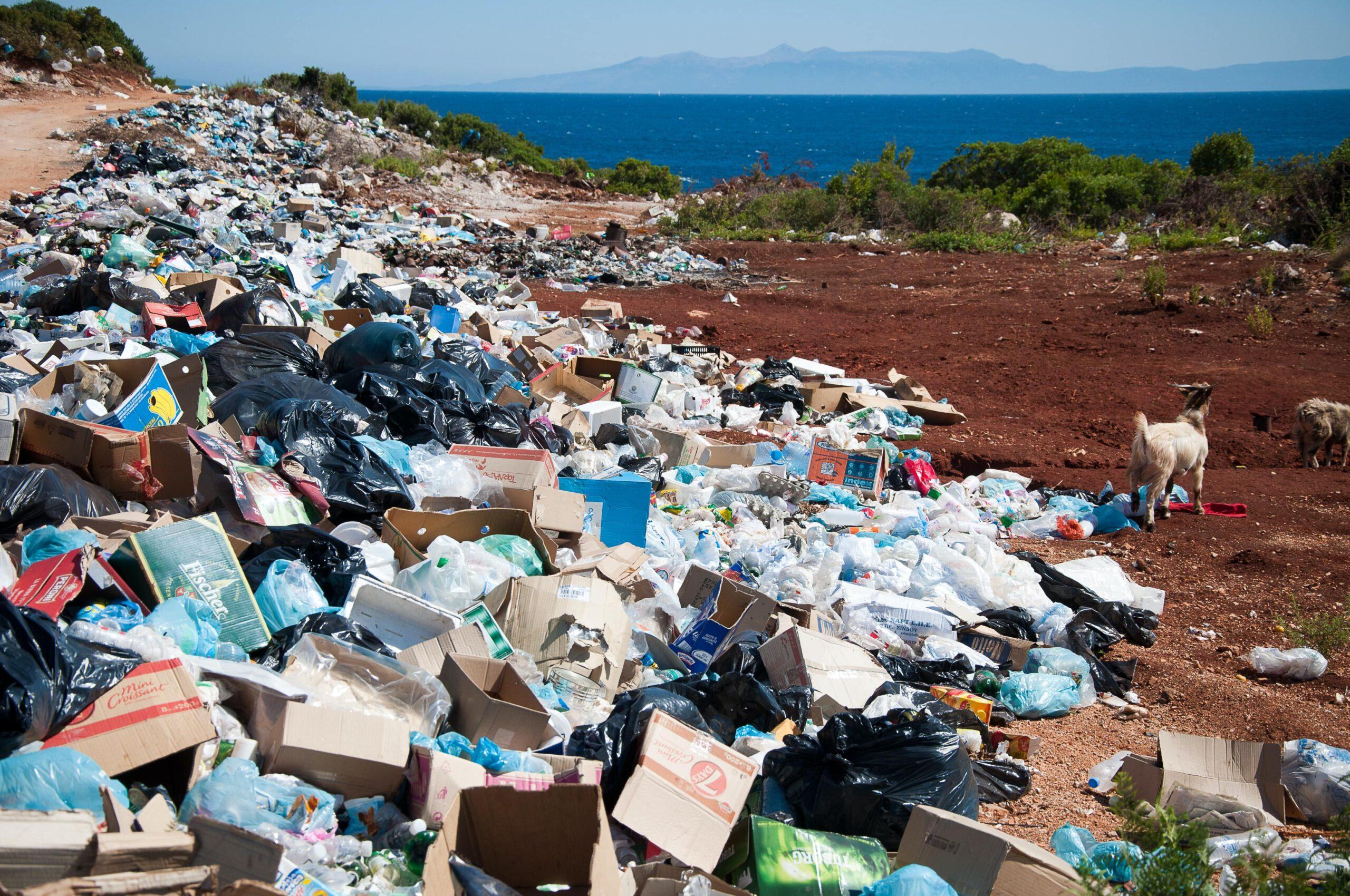 Müll auf einer Insel